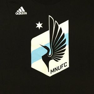 Adidas MNUFC Black Shirt MLS Soccer The Go To Tee